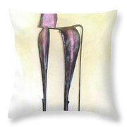 Young Trumpeting Horse Throw Pillow by Al Goldfarb