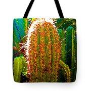 Backlit Cactus Tote Bag