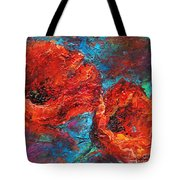 Impressionistic Red Poppies Tote Bag