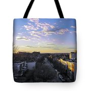 Sunset Row Homes Tote Bag