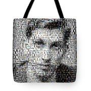 Bobby Fischer Chess Mosaic Tote Bag by Paul Van Scott