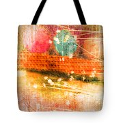 Branches And Brush Strokes Tote Bag