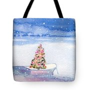 Cape Cod Christmas Tree Tote Bag