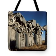 Carhenge In The Afternoon Tote Bag