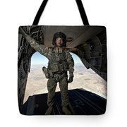 Ch-47 Chinook Crew Chief Stands Tote Bag