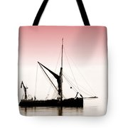 Coble Sailing  Against Pint Sky Tote Bag