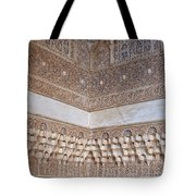 Colorful Carved Corner Tote Bag