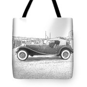 Convertible Antique Car Tote Bag