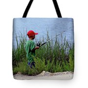 Fishing At Hickory Mound Tote Bag