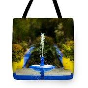 Fountain In Jardin Majorelle Morocco Tote Bag