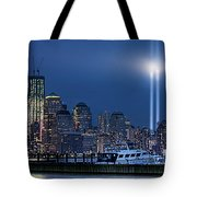 Ground Zero Tribute Lights And The Freedom Tower Tote Bag