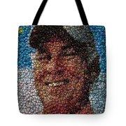 Jimmy Buffet Bottle Cap Mosaic Tote Bag by Paul Van Scott