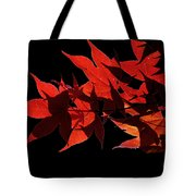 Leaves Of Red Tote Bag