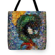 Marvin The Martian Mosaic Tote Bag