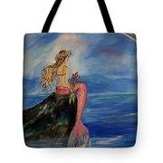 Mermaid Rainbow Wishes Tote Bag