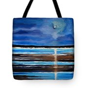 Midnight At The Beach Tote Bag