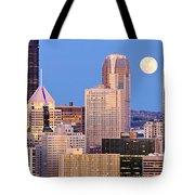 Moon Over Pittsburgh 2 Tote Bag by Emmanuel Panagiotakis