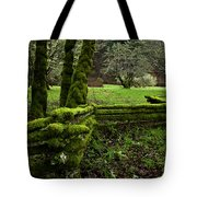 Mossy Fence 2 Tote Bag by Bob Christopher