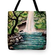Mystical Waterfall Tote Bag