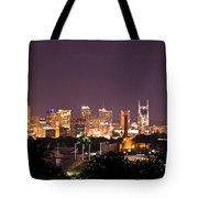 Nashville Cityscape 3 Tote Bag by Douglas Barnett