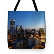 Night Falls On Chicago - D001087 Tote Bag
