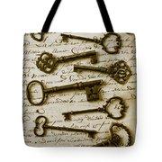 Old Keys On Letter Tote Bag by Garry Gay