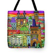 Prague Panorama Old Town Tote Bag by Yuriy  Shevchuk
