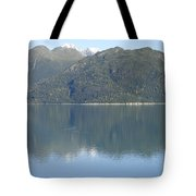 Reflective Moment In Glacier Bay Tote Bag