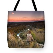 River And Moon Tote Bag