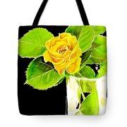 Rose In Vase Tote Bag