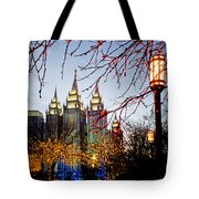 Slc Temple Lights Lamp Tote Bag