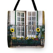 Sunflower Balcony Tote Bag