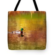 Swimming In Reflections Tote Bag