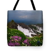 The Alps Wildflowers Tote Bag