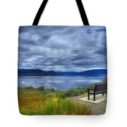 View From A Bench Tote Bag