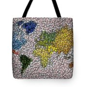 World Map Bottle Cap Mosaic Tote Bag