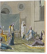 A Persian Harem, From Le Costume Ancien Wood Print