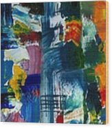 Abstract Color Relationships L Wood Print