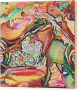 Chameleon Lowrider Wood Print