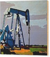 Oil Pump Wood Print