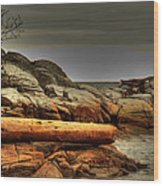 Storm Brewing Wood Print by Randy Hall