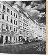 White Buildings In Prague Wood Print by John Rizzuto