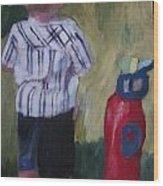 Little Golfer Wood Print by David Poyant