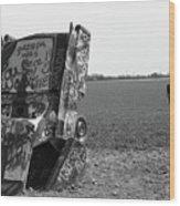 Route 66 - Cadillac Ranch Wood Print