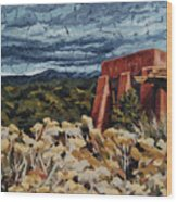 Echoes Of Tularosa, Museum Hill, Santa Fe, Nm Wood Print by Erin Fickert-Rowland