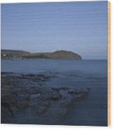 Kimmeridge Bay At Dusk In Dorset Wood Print