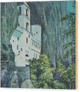 Monastery Ostrog Montenegro Wood Print