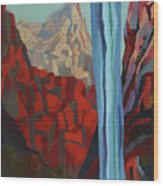 Through The Narrows, Zion Wood Print by Erin Fickert-Rowland