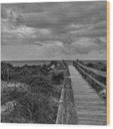 Walk To The Beach Alantic Beaches Nc Wood Print