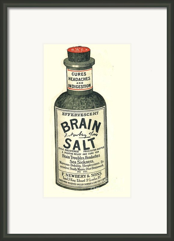 1890s Uk Brain Salt Headaches Humour Framed Print By The Advertising Archives